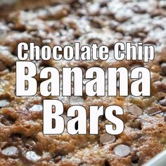 Chocolate Chip Banana Bars Chocolate Chip Banana Bars are a delicious way to use up overripe bananas! They come together quickly and bake in just 30 minutes for a sweet snack or dessert the entire family will love! Butter Chocolate Chip Cookies, Chocolate Chip Recipes, Nutella Recipes, Delicious Desserts, Dessert Recipes, Yummy Food, Overripe Bananas, Overripe Banana Recipes, Banana Bars