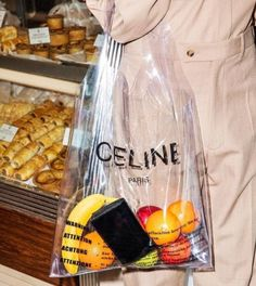 In this edition of weird bags, what do you think of this transparent Celine bag? I love the brand but I'm passing on this. Fashion Mode, Denim Fashion, Fashion Trends, Fast Fashion, Blue Fashion, High Fashion, Kit Design, Logo Design, Plastic Shopping Bags
