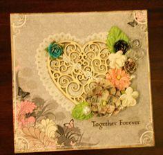 wooden heart card Together Forever, Heart Cards, Wooden Hearts, Frame, Home Decor, Picture Frame, Decoration Home, Room Decor, Frames