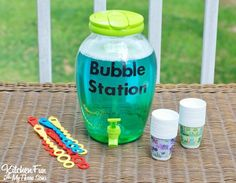 DIY Bubble Refill Station