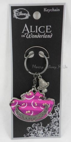 New Disney Alice In Wonderland Cheshire Cat Print Metal Keychain Ring Key Chain | Collectibles, Pez, Keychains, Promo Glasses, Keychains | eBay!
