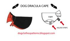 Free Dog Clothes Patterns: Count dracula dog cape patterns