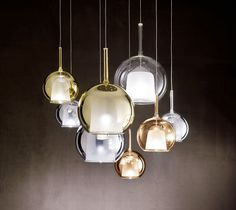 I am loving these chromed metal and borosilicate glass #pendants from Usona Home!