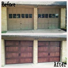 9 best before after what a difference a door makes images on revive your garage with a new garage door from chi in this before and after publicscrutiny Image collections