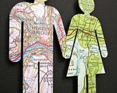 Origin of the Unit - 4 - Vintage Map Figures - Family. £57,00, via Etsy.