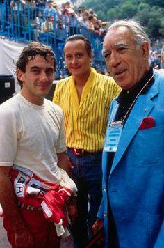 Ayrton Senna e Anthony Quinn