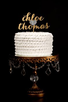 Custom Wedding Cake Topper  Gold and Silver by BetterOffWed, $79.00