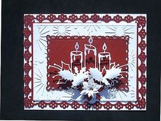 """Memory Box Die Stunning """"Glowing Candle Trio"""" Cut Emboss or Stencil New 