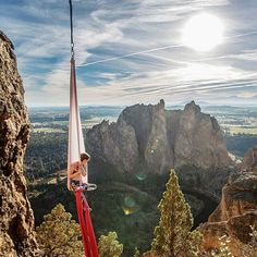 """This is simply stunning! By @cdignes Happy #EarthDay! I absolutely love this shot by @isaaclkoval - """"Putting life into perspective."""" I'm up above #SmithRock State Park in the high desert of Oregon. The park is maintained by a host of fantastic rangers, volunteers, and climbers who abide by #leavenotrace. The park is a sanctuary to a broad range of wildlife as well as the climbers and hikers that enjoy it's views. #keepparksfunded #americasbestidea #flow397 #theoutbound #traveloregon Today…"""