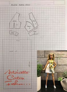 Fashion Dolls Couture - Unlimited: Sunshine 5 -Yellow Floral Dress - Barbie made to m. Fashion Dolls Couture - Unlimited: Sunshine 5 -Yellow Floral Dress - Barbie made to m. Sewing Barbie Clothes, Barbie Sewing Patterns, Doll Dress Patterns, Sewing Dolls, Barbie Style, Dress Barbie, Barbie Mode, Accessoires Barbie, Yellow Floral Dress