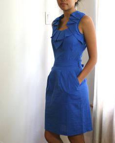 I love the cut and color of this dress