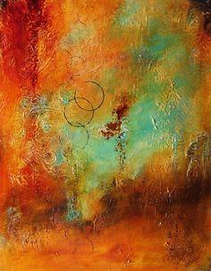 Karen Taddeo Florida Contemporary Abstract Artist Fine Art for Sale Acrylic on Canvas
