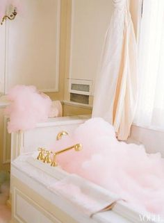Coco Chanel's bathroom - pink bubbles :: | Cozy Cottage Living | Pint…)