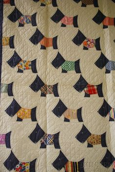 Vintage Hand-stitched Scottie Dog Quilt @Jill Van Gessel thought of you!