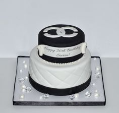 Chanel Birthday Cake With A Little Bling by Desserts By Rondi