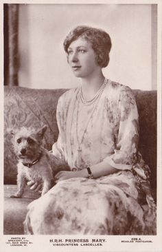 Mary, Princess Royal and Countess of Harewood, the only daughter of George V and Queen Mary.