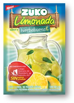 Zuko Limonadas Mexico: A new line of flavored powder to prepare Lemonade.