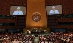 Pope Benedict XVI Addresses UN General Assembly   The Bible tells us that the kings of the earth will gather together against God Almighty and his anointed Jesus Christ to do battle. This is found in 3 separate places in scripture so there can be no mistake as to what will happen. http://www.seawaves.us/na/koe/kings.html