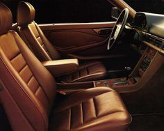 Mercedes Benz W126 S-Class Coupe 560 SEC Interiour  #MercedesBenz #LuxuryCoupe #Eighties #Brown #Leather #MadeInGermany