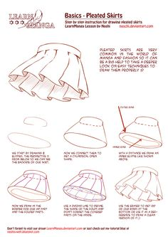Learn Manga Basics: Pleated Skirts by Naschi.deviantart.com on @deviantART
