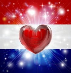 Illustration of Flag of Netherlands patriotic background with pyrotechnic or light burst and love heart in the centre vector art, clipart and stock vectors. Patriotic Wallpaper, Patriotic Background, Holiday Wallpaper, I Love America, God Bless America, I Love Heart, Happy Heart, American Pride, American Flag