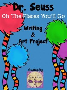 """For another version of this craft - Click here!Have students brainstorm their dreams and aspirations all while inspired by Dr. Seuss' """"Oh! The Places You'll Go!""""Students will write a goal they have and how they plan to reach it. The craft has students decorate their own hot air balloon, and if desired, a picture of the student can be taken and added to the final product."""
