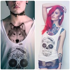 I thought wolf shirts were cool... a wolf chest tattoo is whole new level.