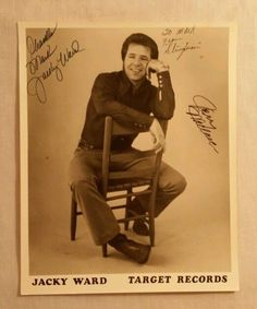 """Country Music Autograph - Jacky Ward - Target Records Signed Promo Photo 8""""x10"""" #eBay #GotPics"""