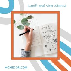 Love flower line drawings but think you can't? You can. The Leaf and Vine stencil is like the Mr. Potato Head of floral line drawings. Grab a stem, a flower, maybe a leaf and put them all together. Get it over here. #florallineart #bulletjournal January Bullet Journal, Bullet Journal Spread, Bullet Journal Layout, Bullet Journal Inspiration, Journal Ideas, Simple Flowers, Love Flowers, Flower Line Drawings, Weekly Spread
