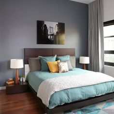 Lakeview Residence - contemporary - Bedroom - Chicago - workroom couture home