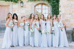 Photography: Luna de Mare Photography - http://www.stylemepretty.com/portfolio/luna-de-mare Bridesmaids' Dresses: Amsale - http://www.stylemepretty.com/portfolio/amsale Read More on SMP: http://www.stylemepretty.com/2015/09/21/intimate-summer-sunstone-villa-wedding/