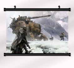 "Destiny Game Fabric poster with wall scroll 22"" x 16"""