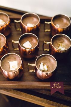 Hot chocolate wedding cocktails