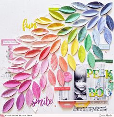 Peek-A-Boo Layout by Zsoka Marko (Paige Taylor Evans) Paper Bag Scrapbook, Scrapbook Supplies, Scrapbook Cards, Scrapbook Designs, Scrapbook Sketches, Scrapbook Page Layouts, How To Make A Paper Bag, Peek A Boo, Creative Memories