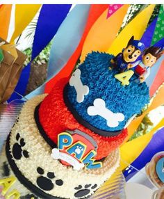 Paw Patrol party:: just the top layer for Bryce