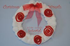 Sabor a Cajeta: pipe-cleaners, cotton balls and bows! (kids christmas craft)
