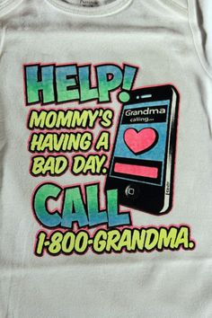 HELP! mommy's having bad day funny t-shirts tees one piece white baby NWOT cute  #Cartersfor6M24MJERZEESGildanHanes24T #Everyday
