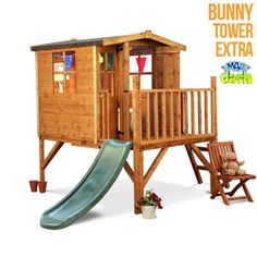 The Mad Dash 300 Bunny Tower Playhouse Collection - Wooden Playhouses - Garden Buildings Direct