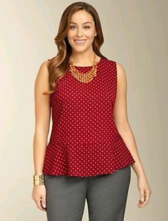 Dot Crepe Peplum Top Dot Crepe Peplum Top Dot Crepe Peplum Top The post Dot Crepe Peplum Top appeared first on New Ideas. Curvy Outfits, Plus Size Outfits, Fashion Outfits, Business Casual Outfits, Casual Fall Outfits, Sunday Clothes, Plus Size Kleidung, Full Figure Fashion, Dress To Impress
