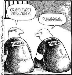 """Previous pinner: """"Plagiarism cartoon - prisoners"""" -- SH: """"Speed Bump"""" cartoon by Dave Coverly/Creators' Syndicate"""