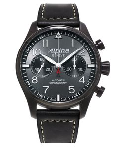 "The Alpina Startimer Pilot Automatic Chronograph ""Blackstar"" on sale on the Official Alpina Web Store (selected countries only). Swiss professional pilot watch. http://webstore.alpina-watches.com/products/startimer-pilot-chronograph-blackstar-ref-al-860gb4fbs6"