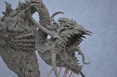 Berserker Dragon Bust by AntWatkins on deviantART