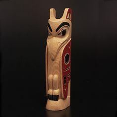 Coastal Peoples Fine Arts Gallery - Eugene Alfred Totem Pole Art, Tiki Totem, Totem Poles, Native Art, Native American Art, Stone Carving, Wood Carving, Pottery Clay, Slab Pottery