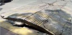 呼吸する道路を撮影 #México #メキシコ #メキシコシティ #アスファルト道路 #堆積盆地 #地震波 #プエブラ