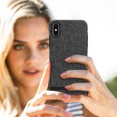 BENKS Custodia in Vera Pelle per iPhone X Back Cover Protettiva