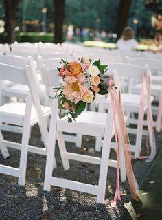 Ribbon and blooms: http://www.stylemepretty.com/texas-weddings/dallas/2014/12/08/chic-texas-garden-wedding-at-marie-gabrielle/ | Photography: Virgil Bunao - http://virgilbunao.com/