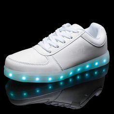 2016 Mujeres Coloridas zapatos brillantes zapatos con luces led luminoso una nueva simulación zapatos para adultos neón cesta único led led en   de   en AliExpress.com | Alibaba Group