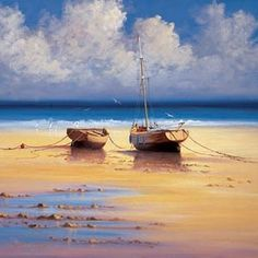 Found it at Wayfair - Fine Art Tapestries Restful Moorings Tapestry - David Short Seascape Paintings, Landscape Paintings, Canvas Wall Art, Canvas Prints, Detail Art, Online Painting, Contemporary Paintings, Fine Art Prints, Wall Tapestry