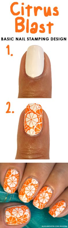 Want an easy manicure without taking so much time on creating a picture perfect mani? We've got you covered with this refreshingly simple citrus nail art design.