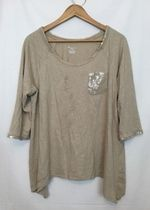 Lane Byrant Sequin Beige Blouse!